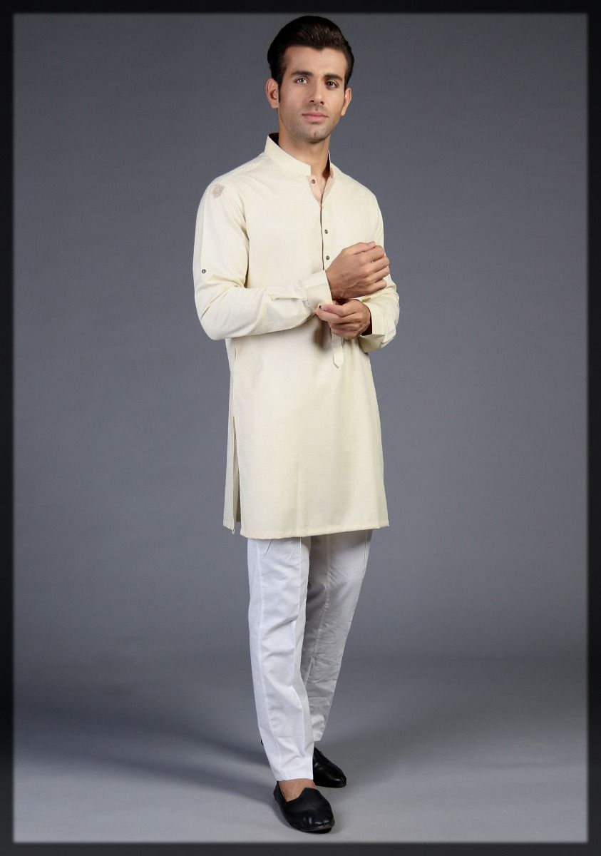 impresive white kurta