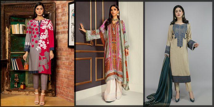 latest and stylish winter dresses for pakistani women