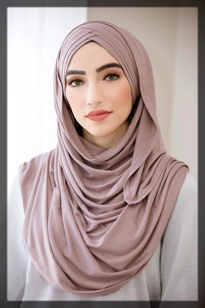 layered high chin hijab