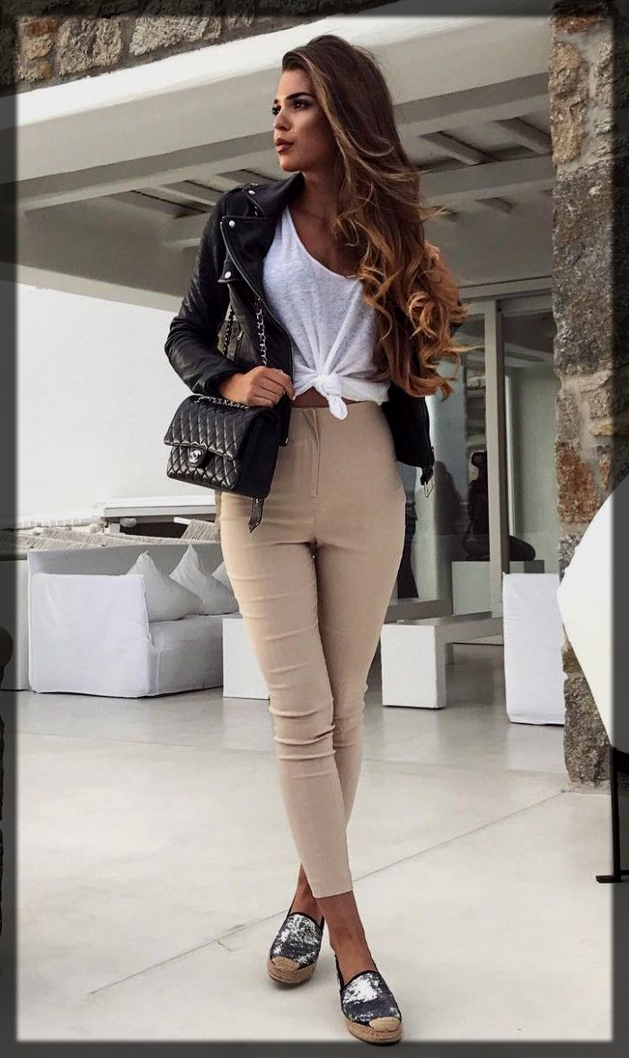 leather jacket winter outfit