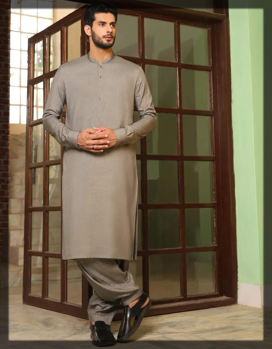 light grey shalwar kameez