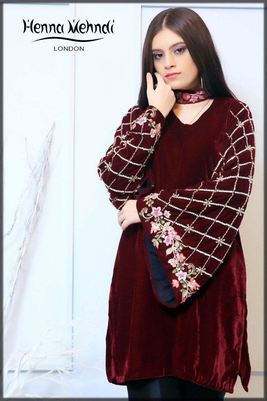 maroon sleeves designs