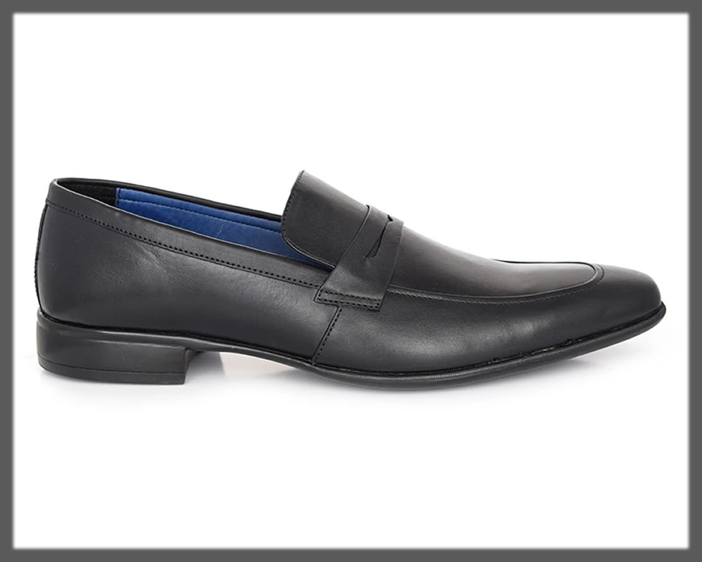 pointed mate black men's loafers