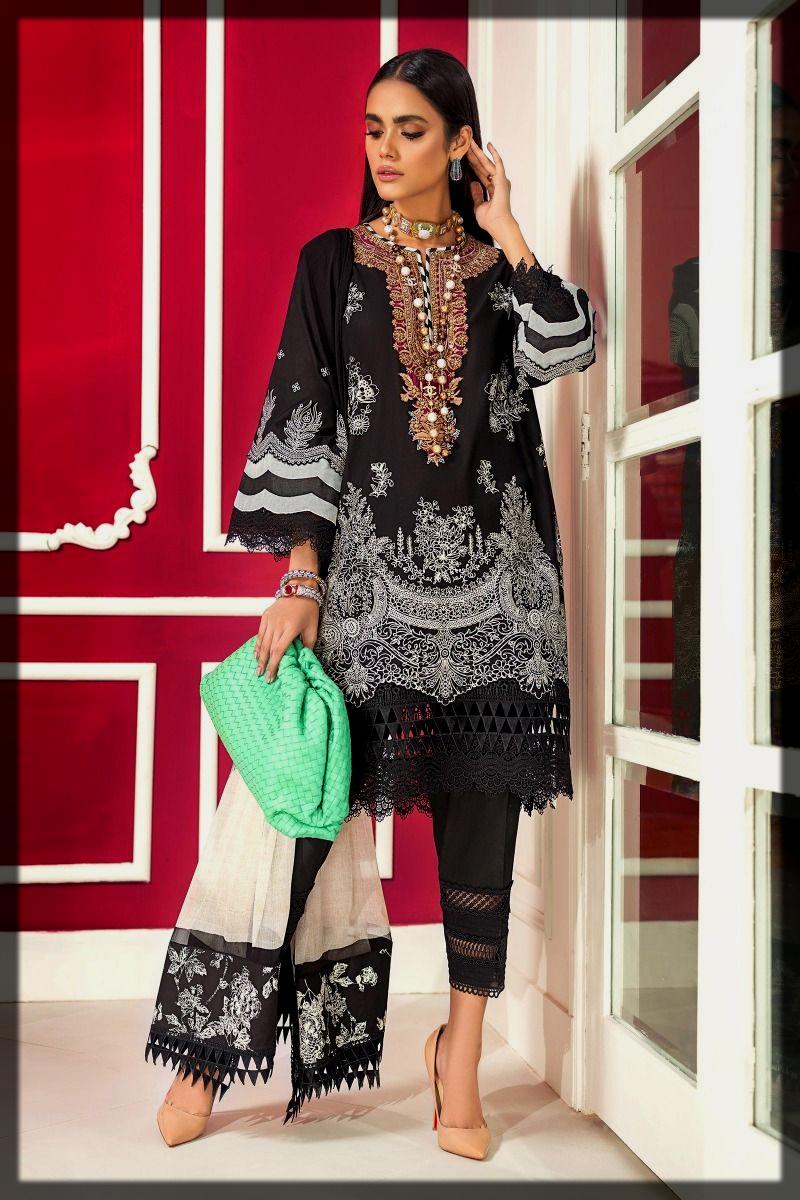 sleek black sana safina suit