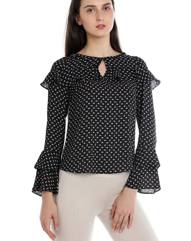 double frill sleeves