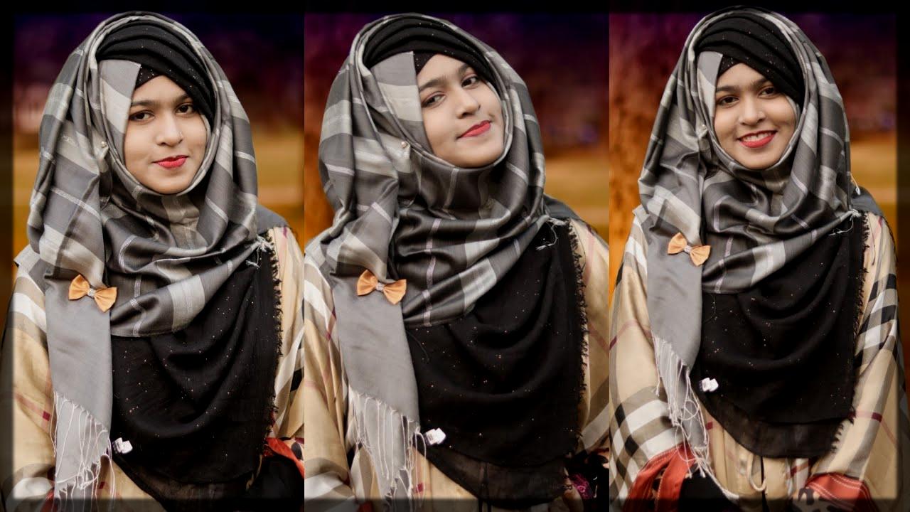 swept winter hijab idea