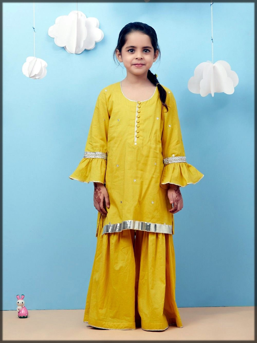 yellow sharara dress