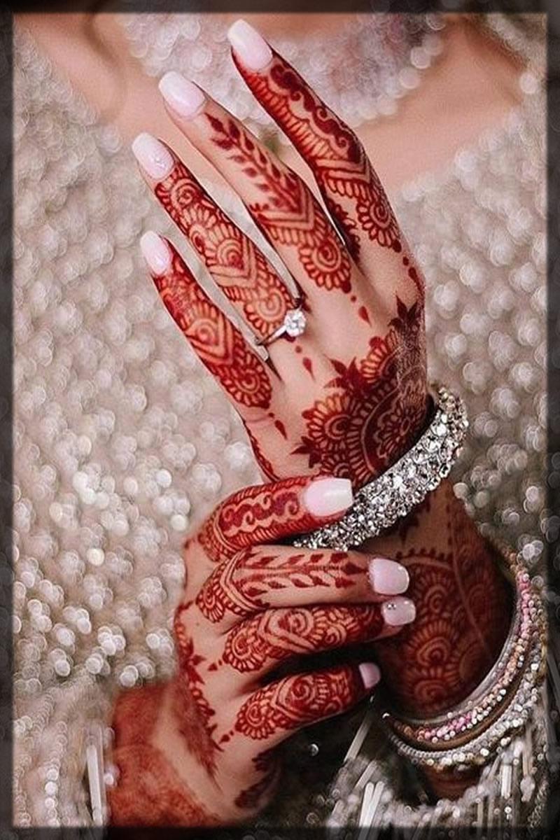 CREAMY WHITE Bridal nail art