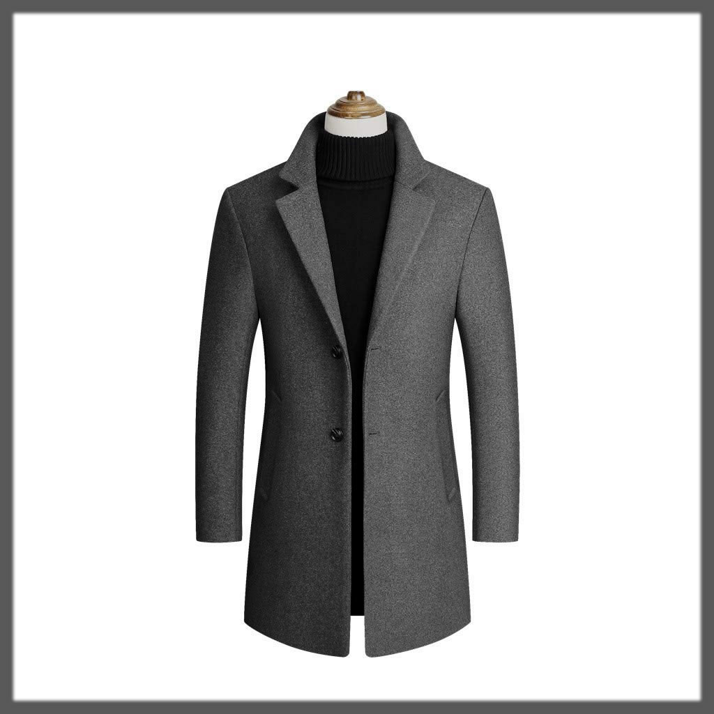 Dazzling Long Slim Trench Coats for Men