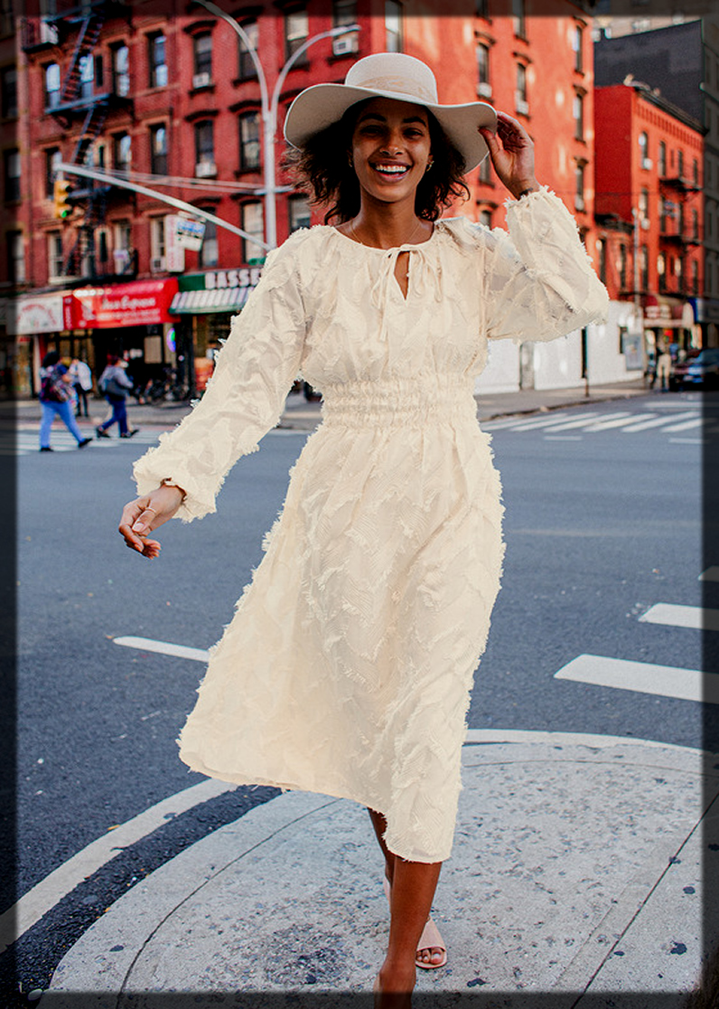Fringe Sleeve Midi Dress for youngest
