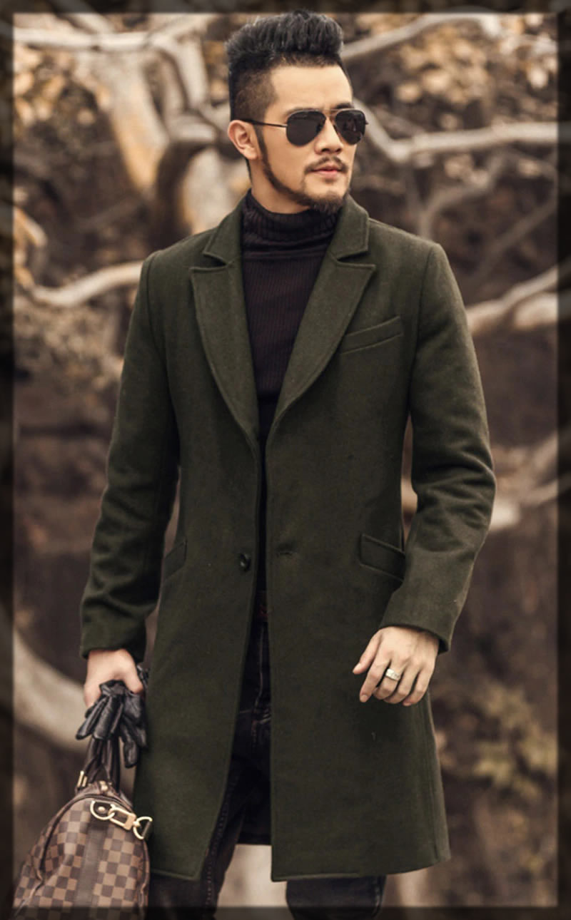 Military Green Trench Coats for men