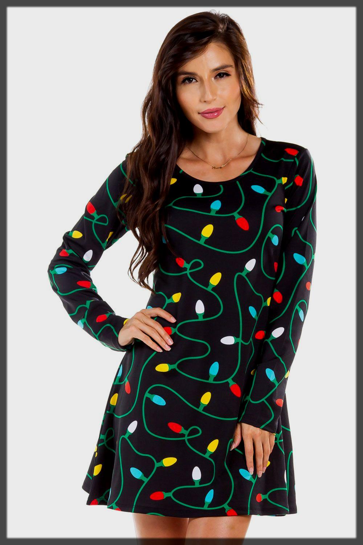 Tclassy twinkle Lights Dress