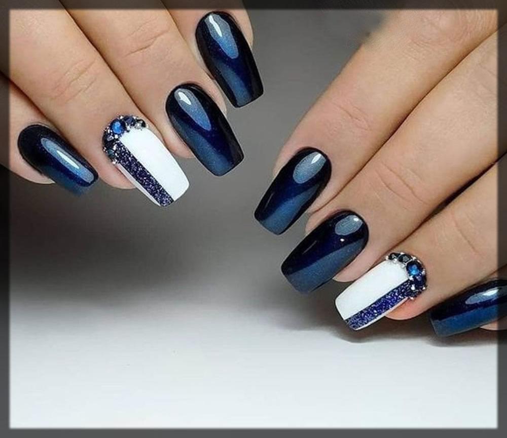 acrylic blue nail art