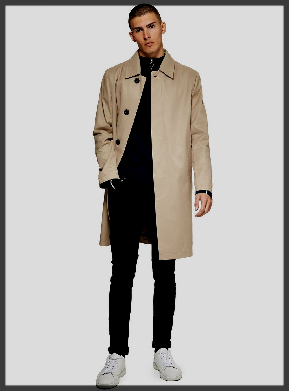 appealing office trench coat