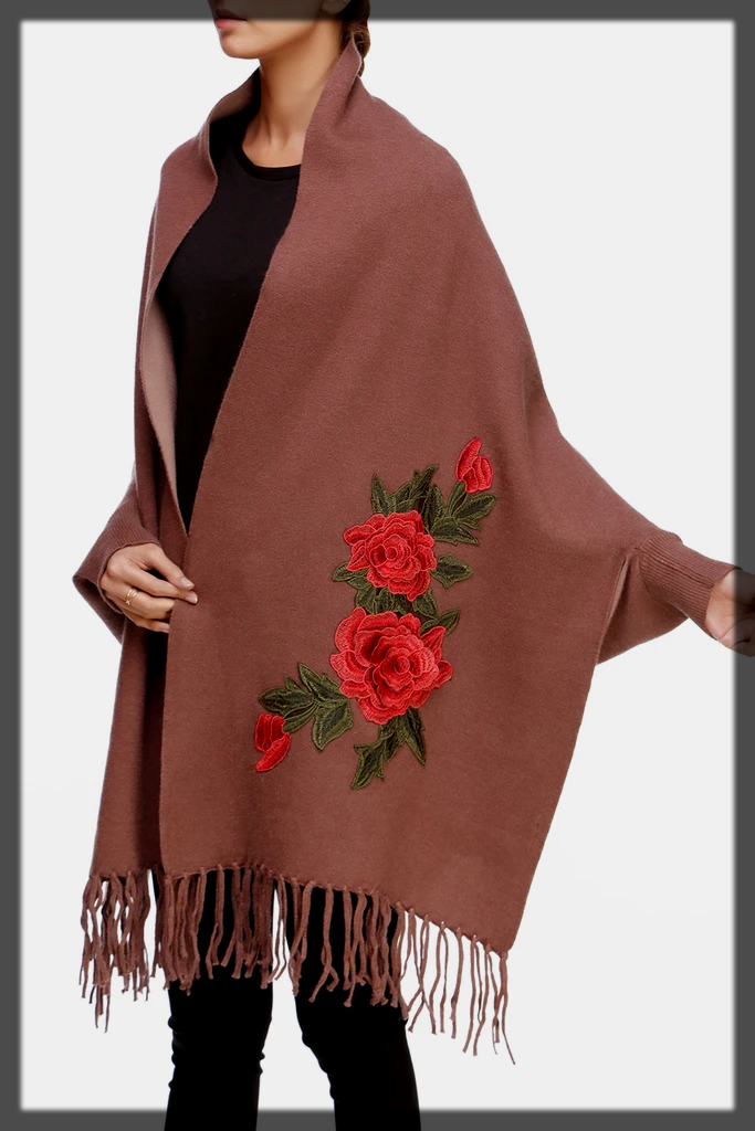 classy embroidered shawl