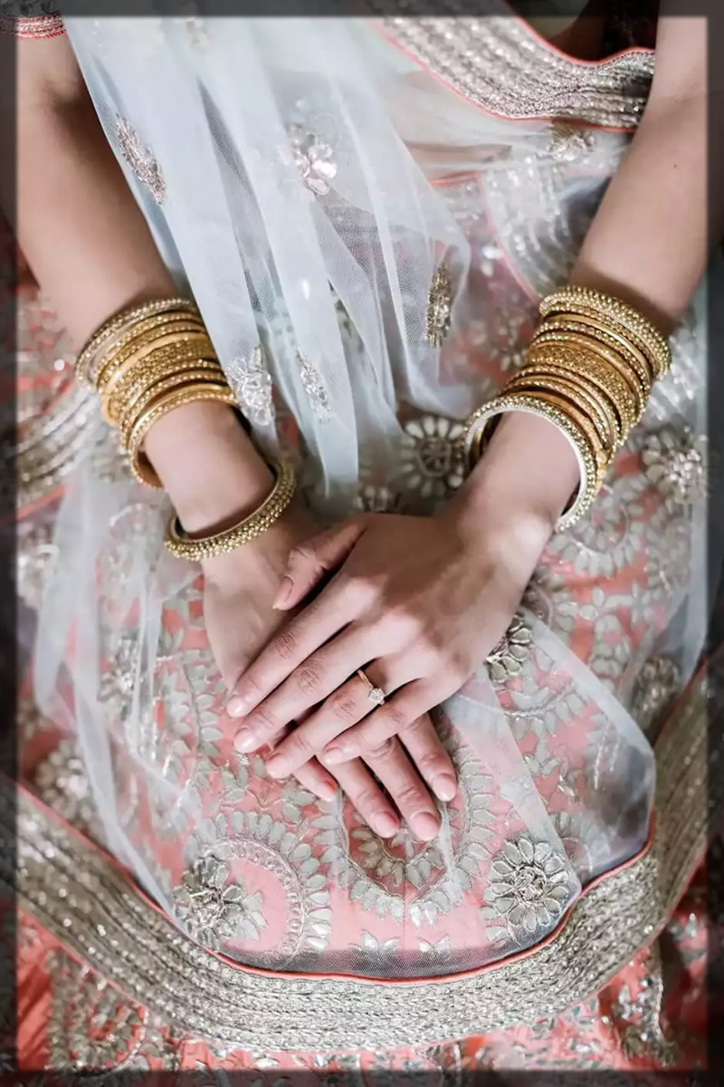 creamy and nude nail art for brides