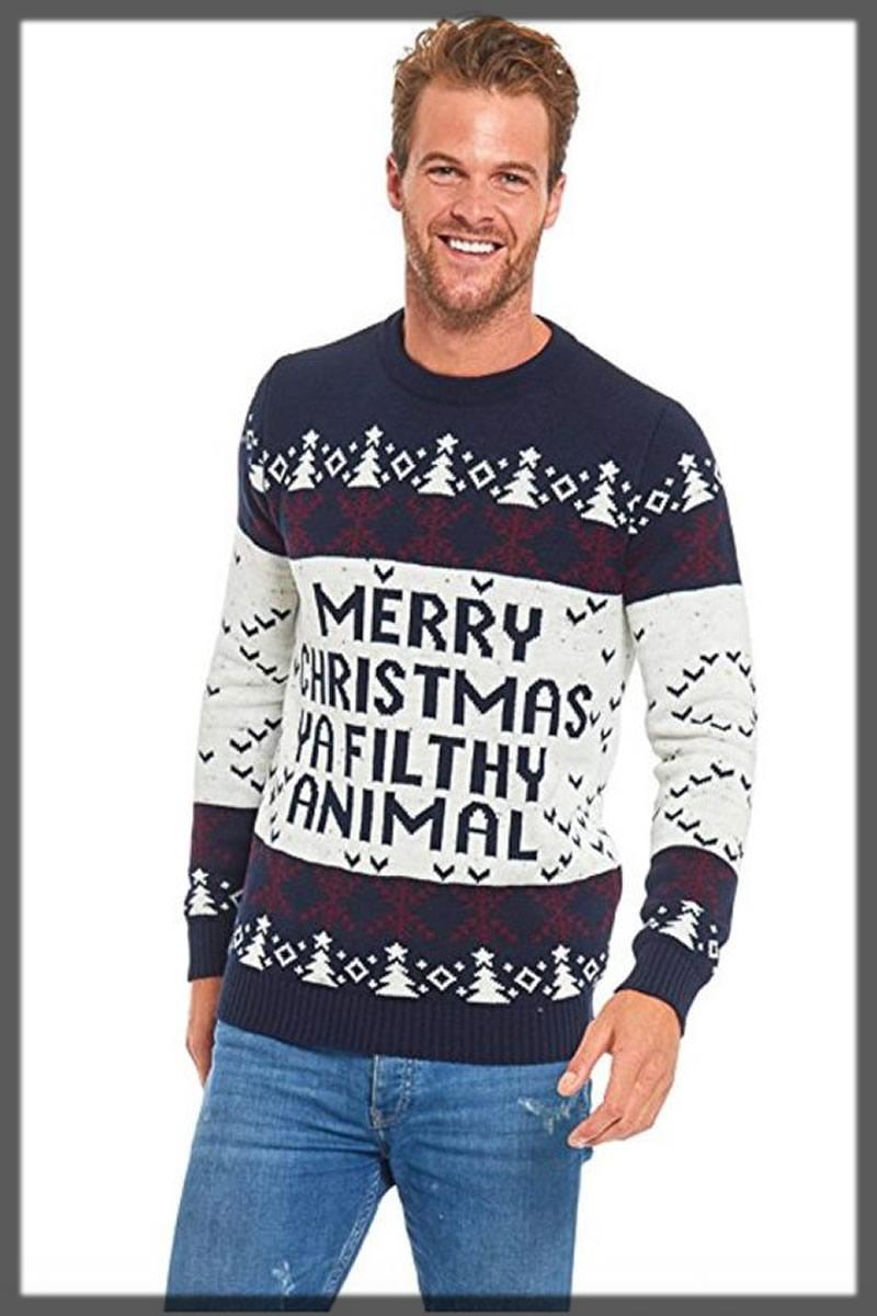 decent christmas sweater for men