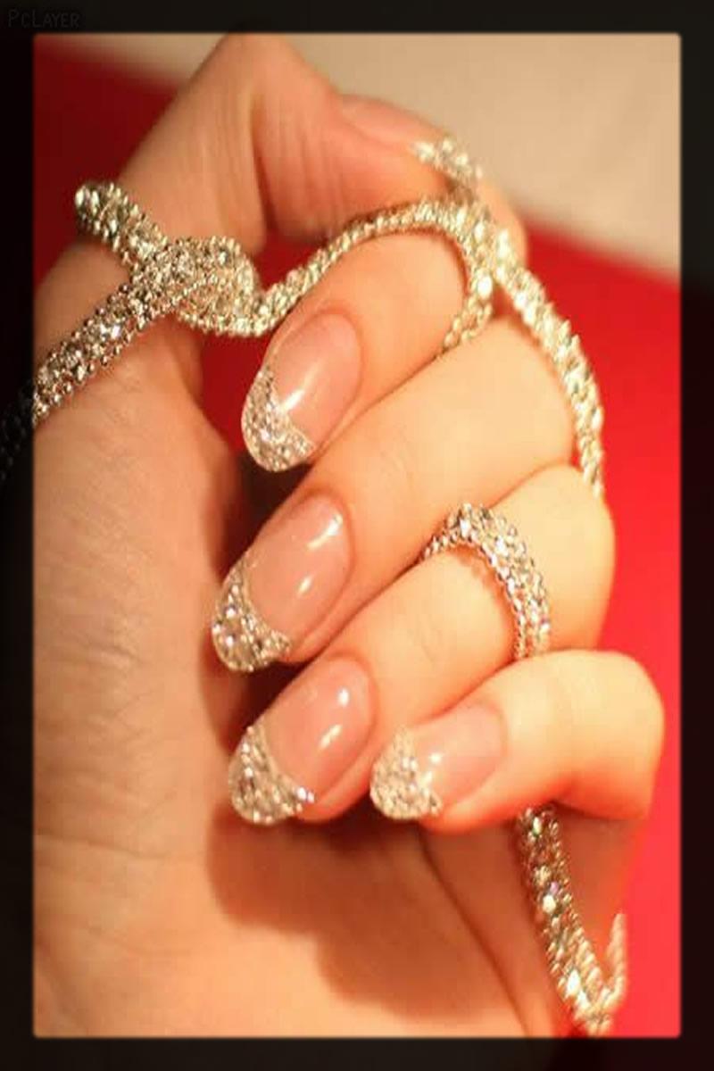 diamond jewel nail art