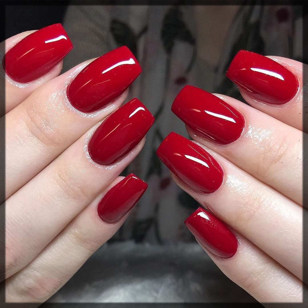 essential red nail color for brides