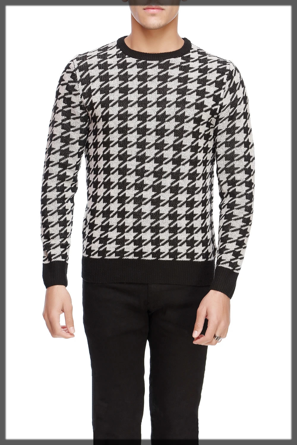 graceful black and white Winter Sweaters For Men