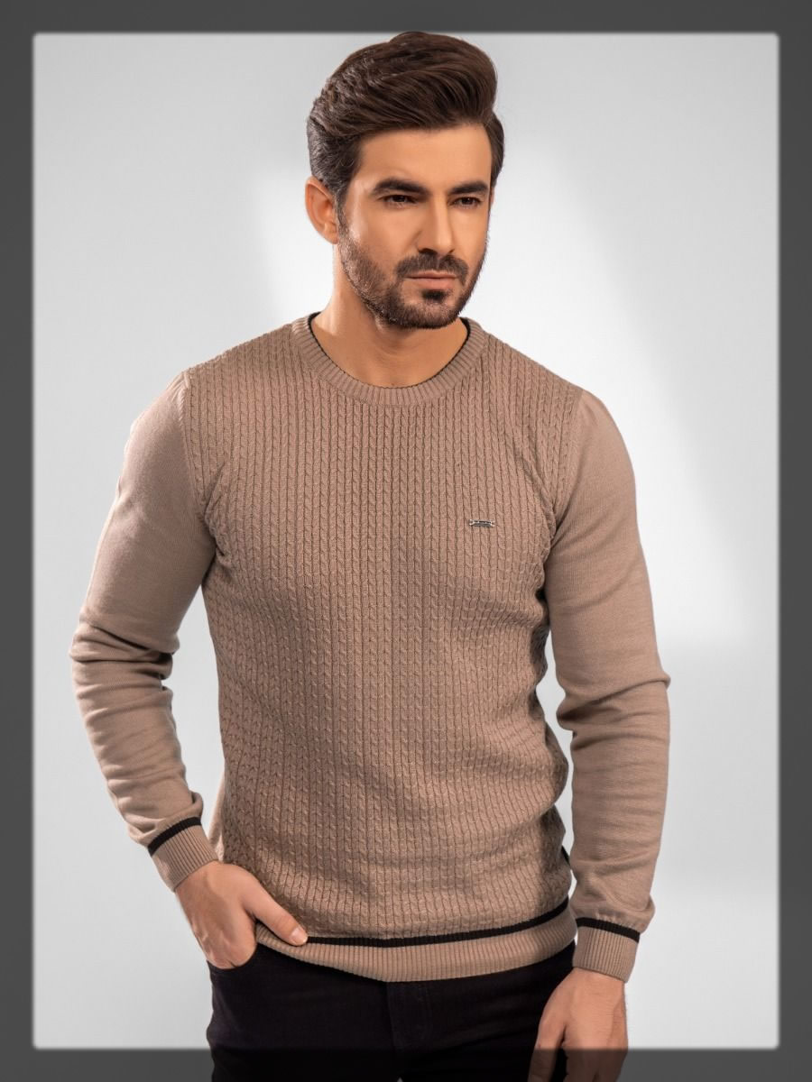 light brown men's sweater