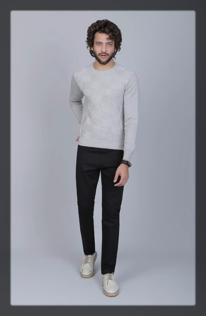 light grey men's sweater