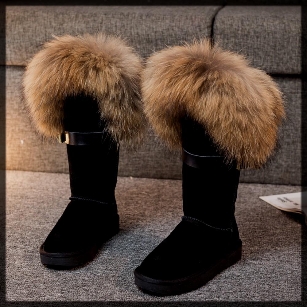 lovely black winter boot