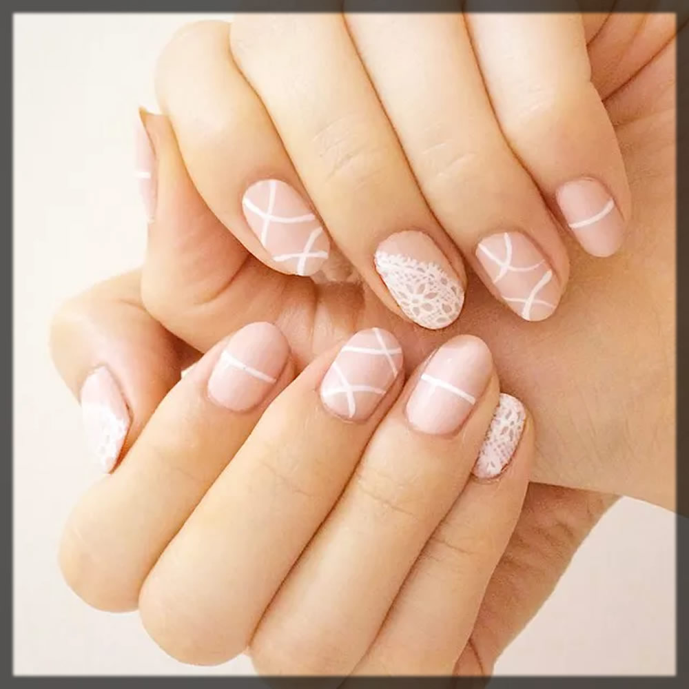 luxe lace nail art design