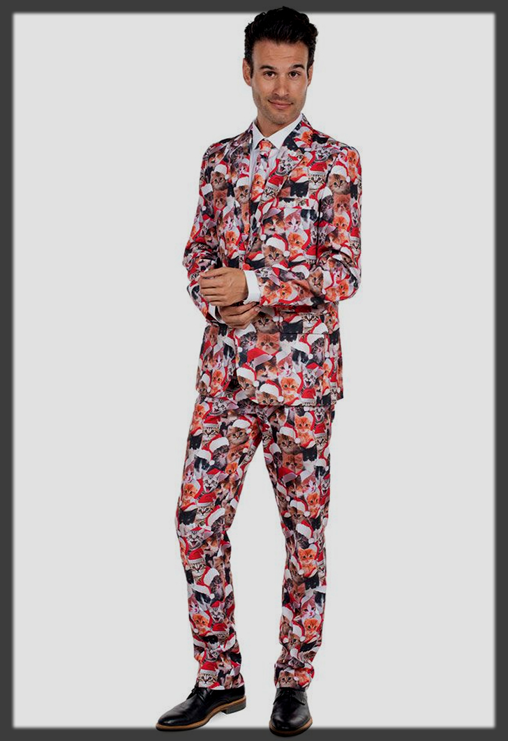 meow pant suit for men