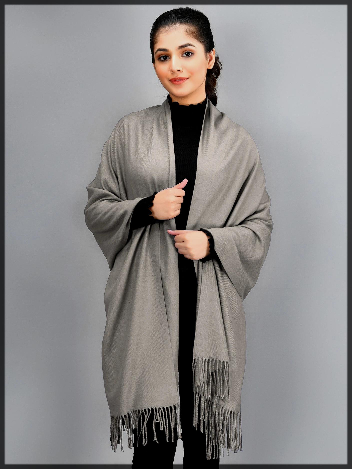 plain woven shawl
