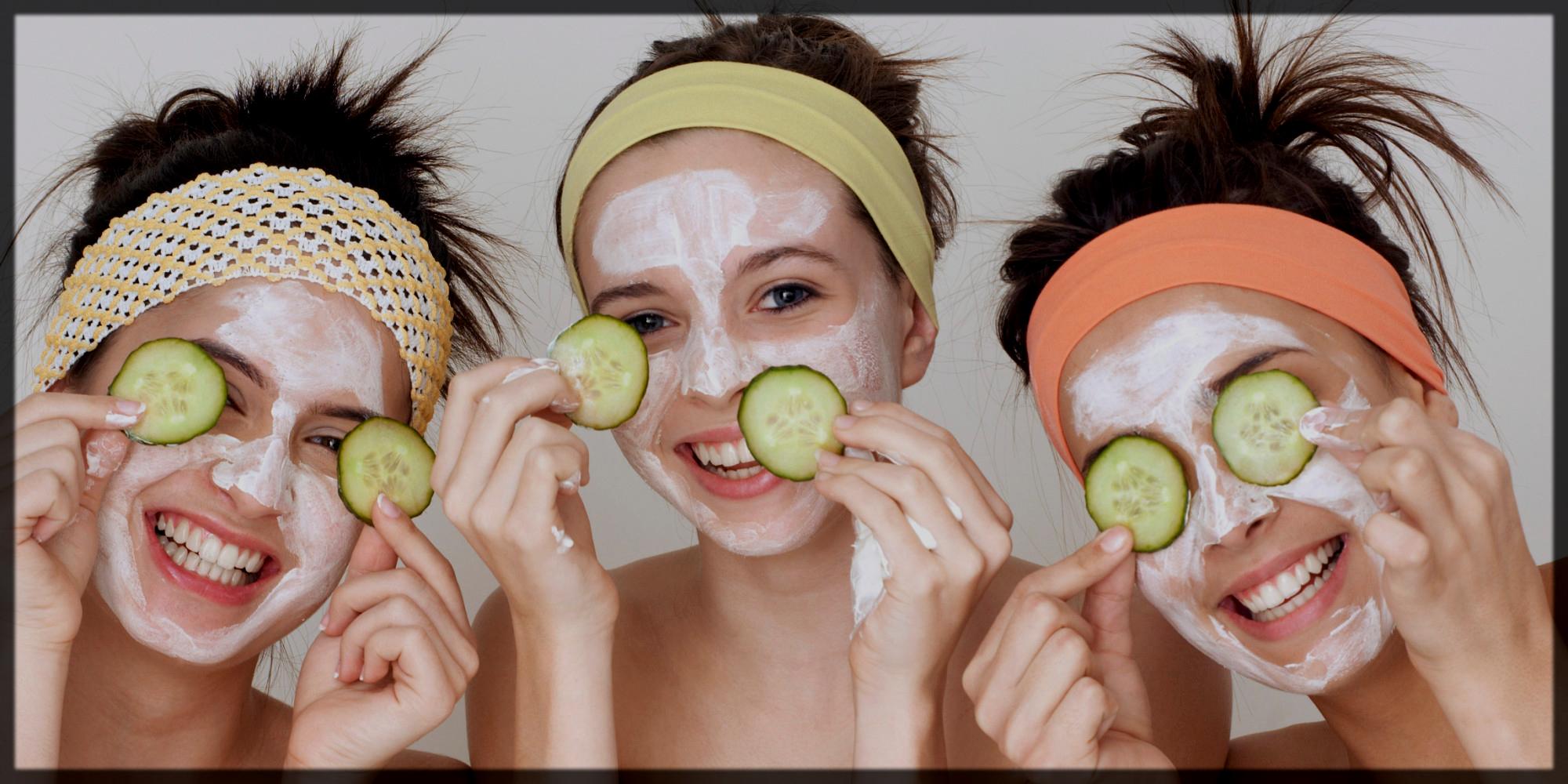 Applying all Facial Ingredients