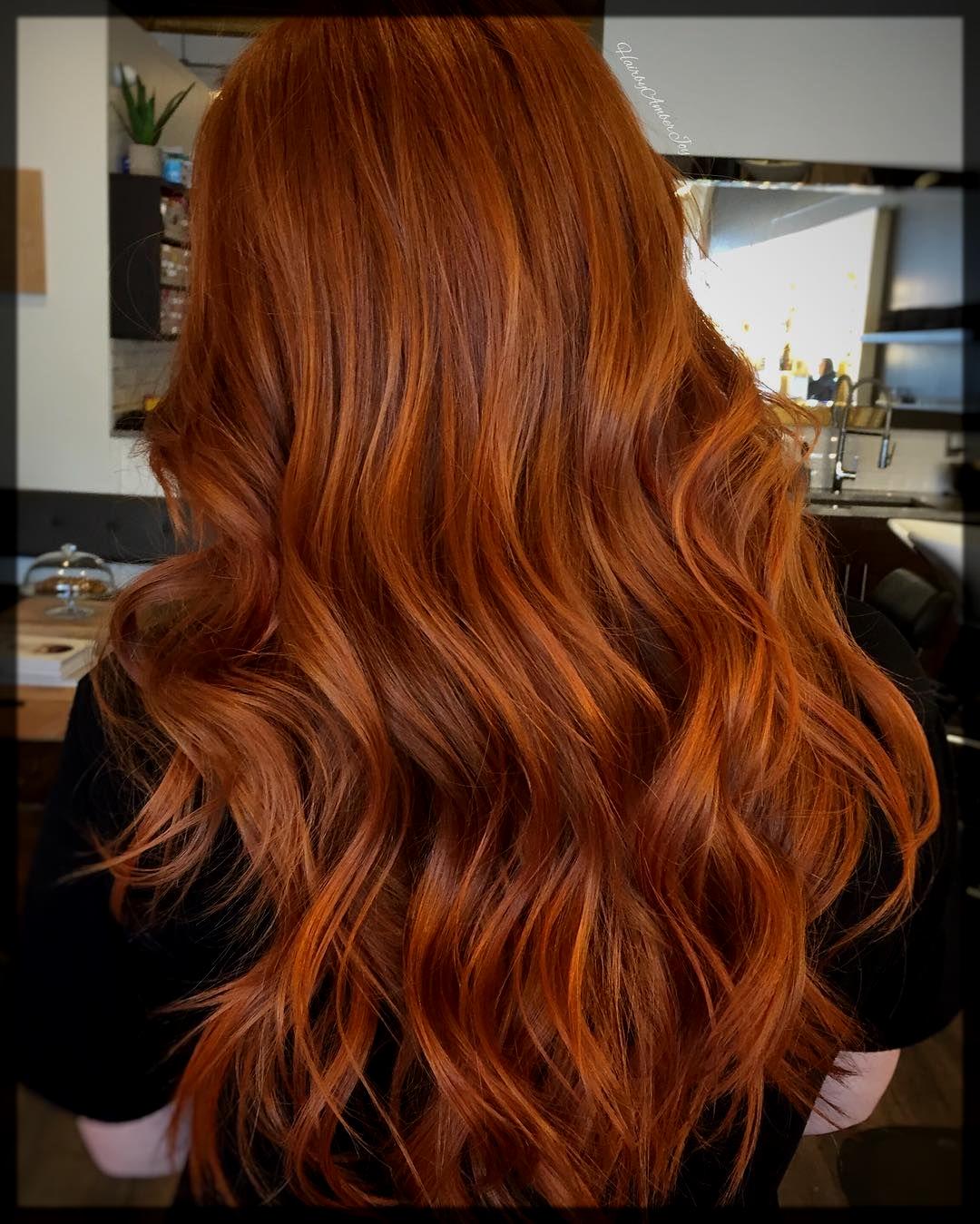 Copper shimmer hair color