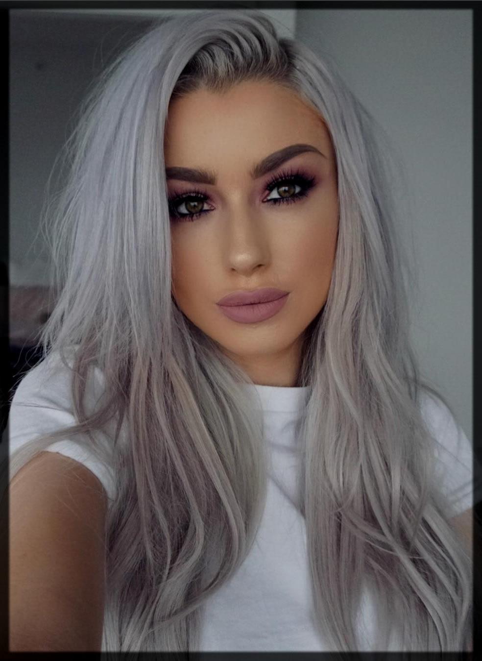 Enchanting Eid Fashion Trends of Grey Hair Color