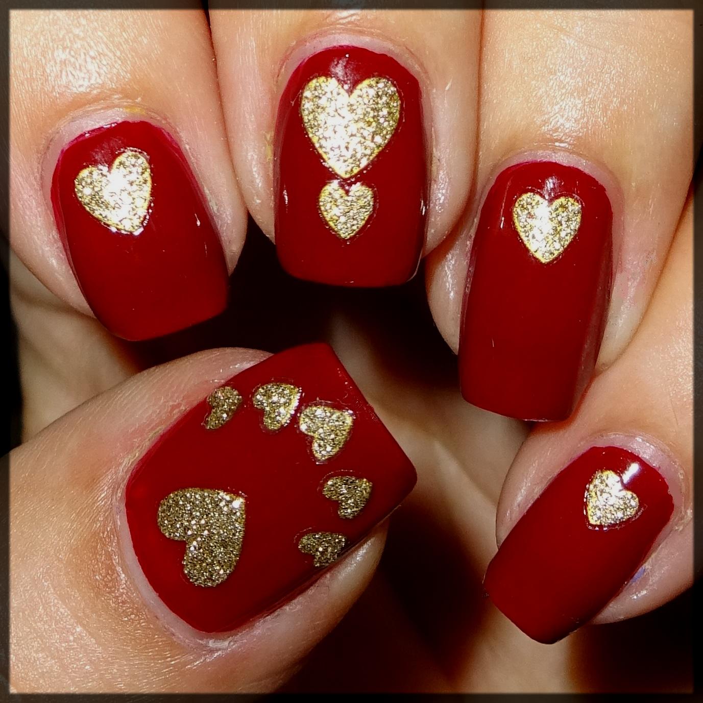 Glitter Heart Art for Valentines Day