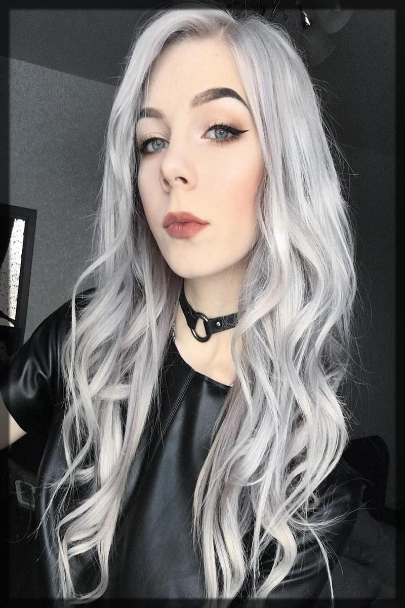 Inspiring Silver Blonde hair Dye