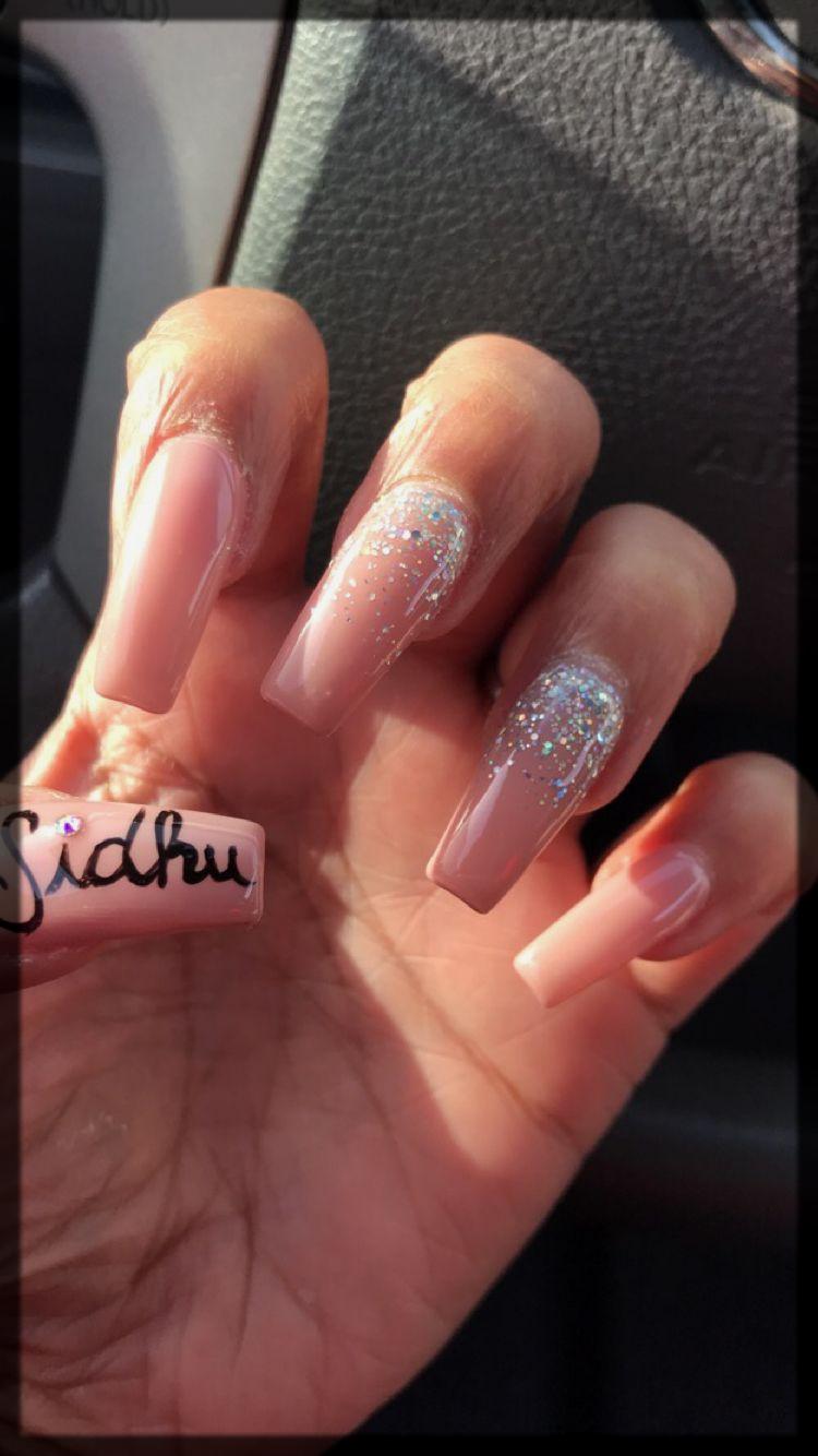 Lovely Boyfriend Name valentines day nail art