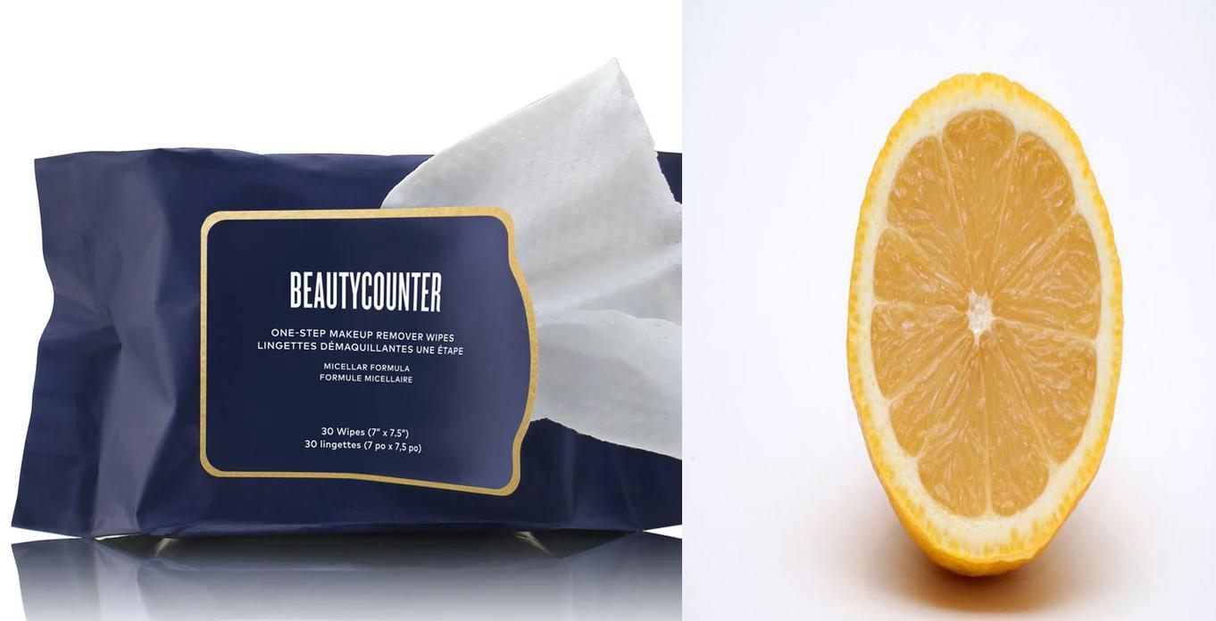 Makeup Remover and Lemon