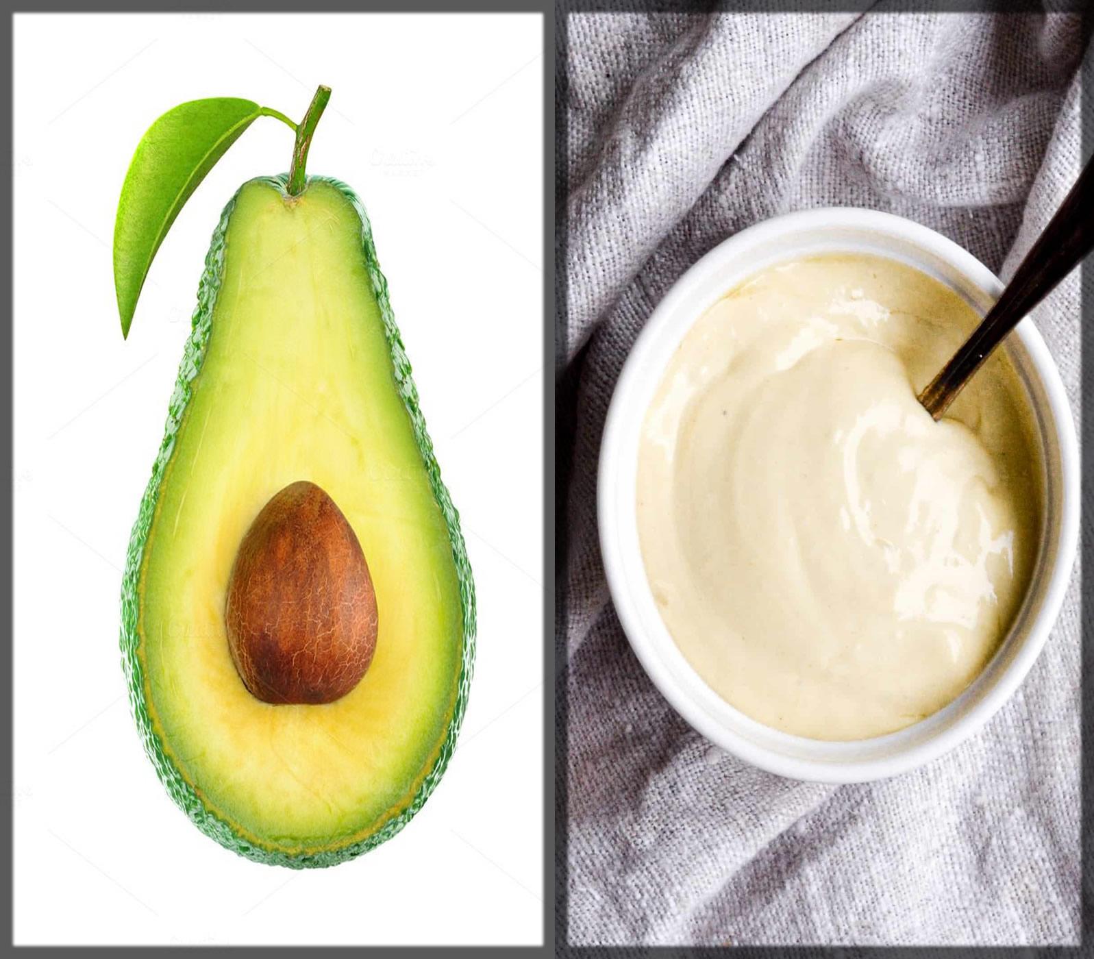 Mayonnaise And Avocado Mask