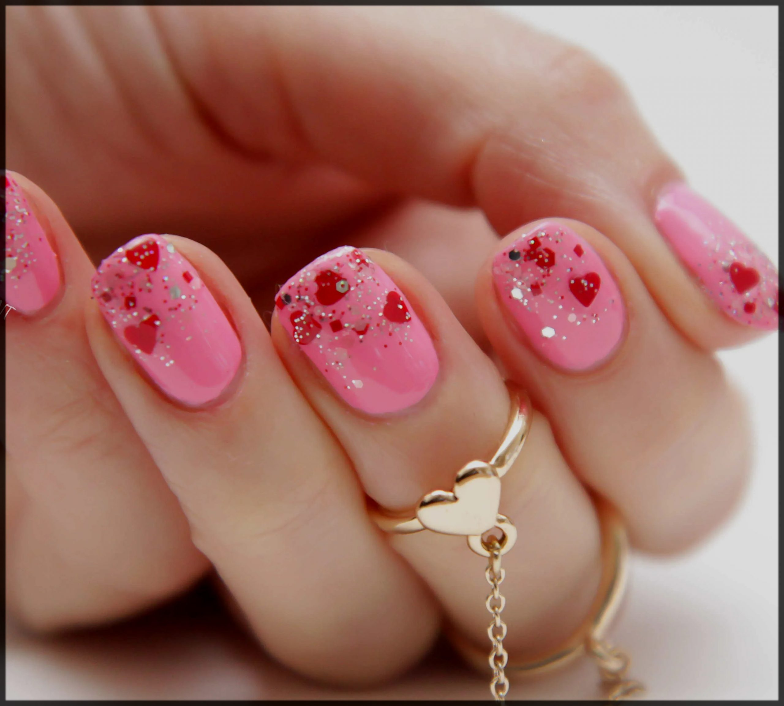 Pink with Little Hearts