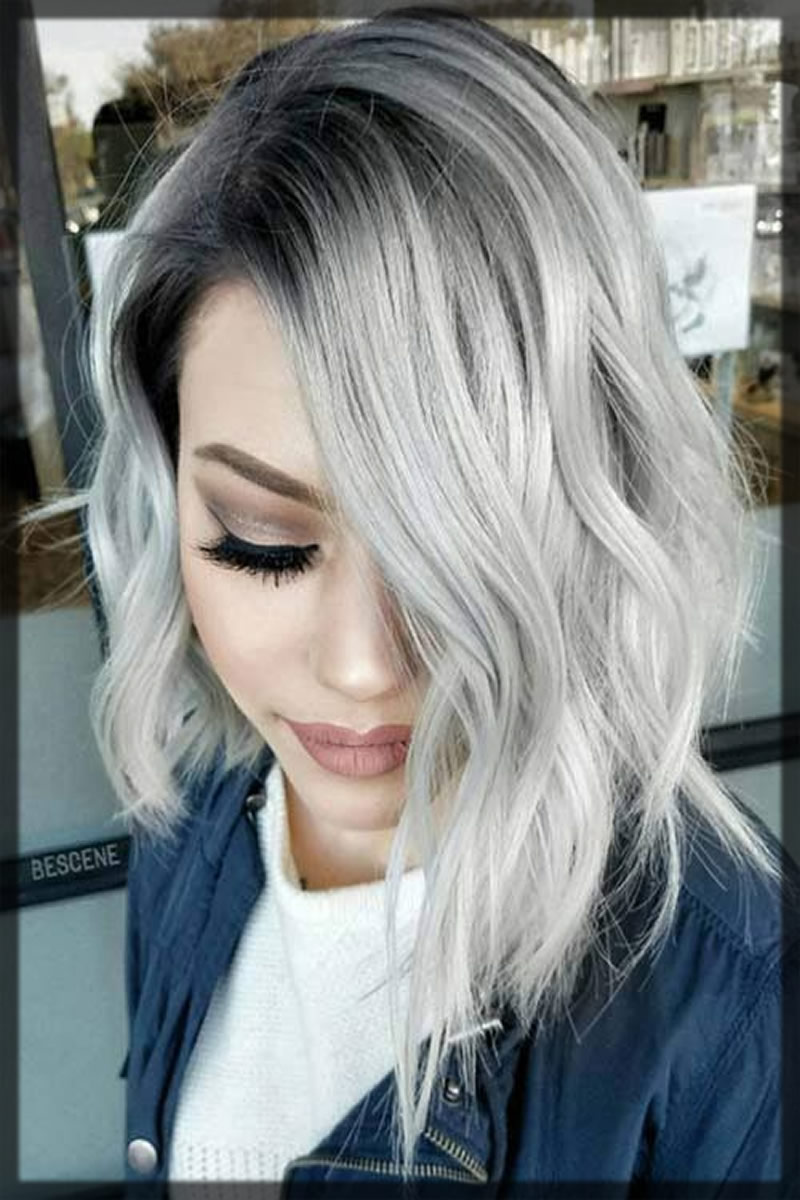classy silver hair color