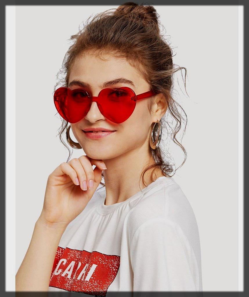 heart style sunglasses