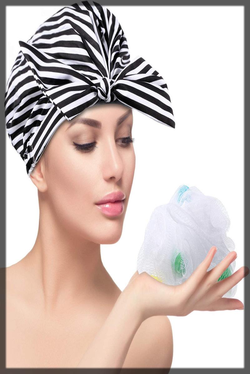 reuseable shower cap for girls