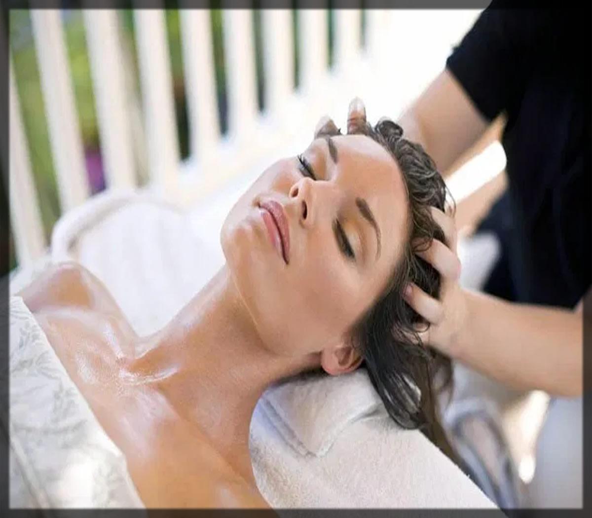 scalp massage to do keratin treatment