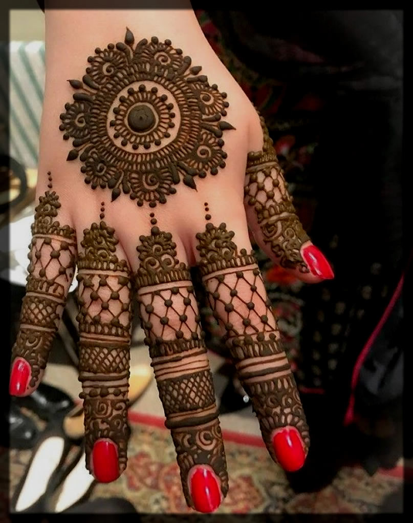 tikki mehndi design for eid