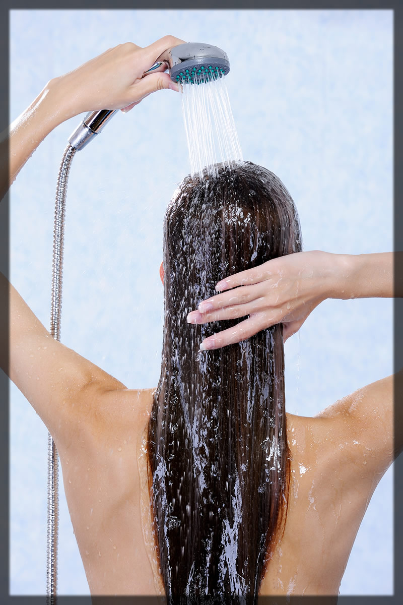 wash away the hair mask