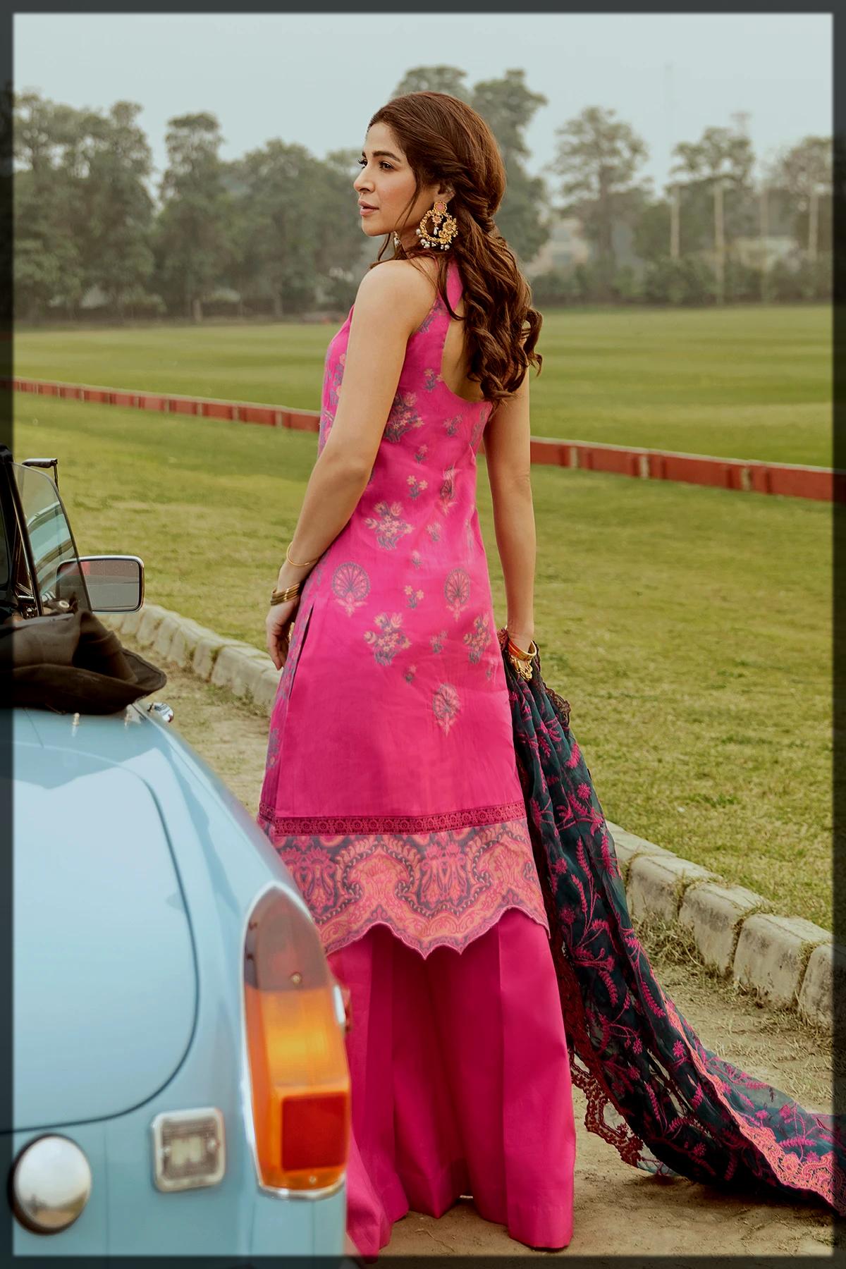 Chic Jacquard Luxury Suit by Saira Rizwan