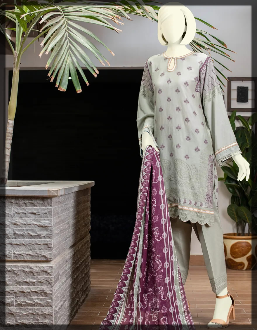 DULL SEA GREEN PRET SUIT FOR WOMEN