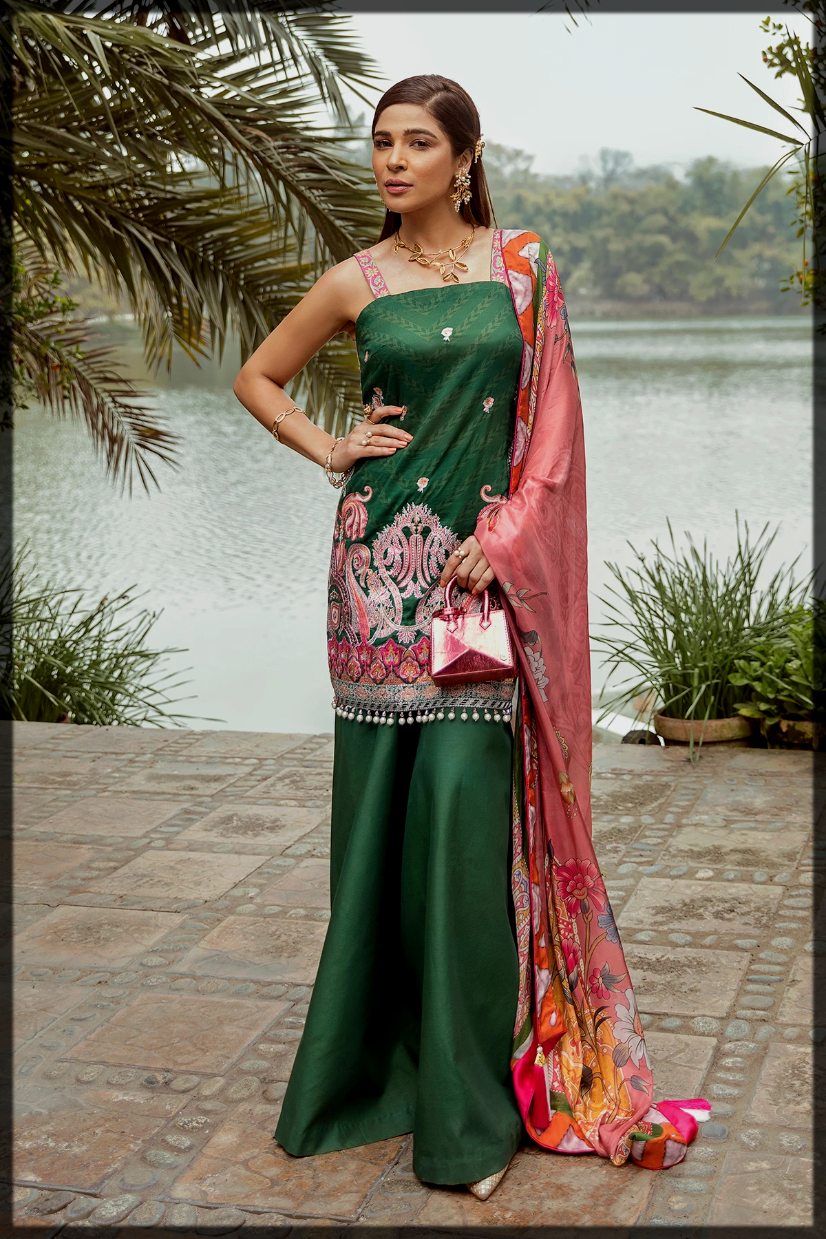 Self Printed Luxury Lawn Suit for Women
