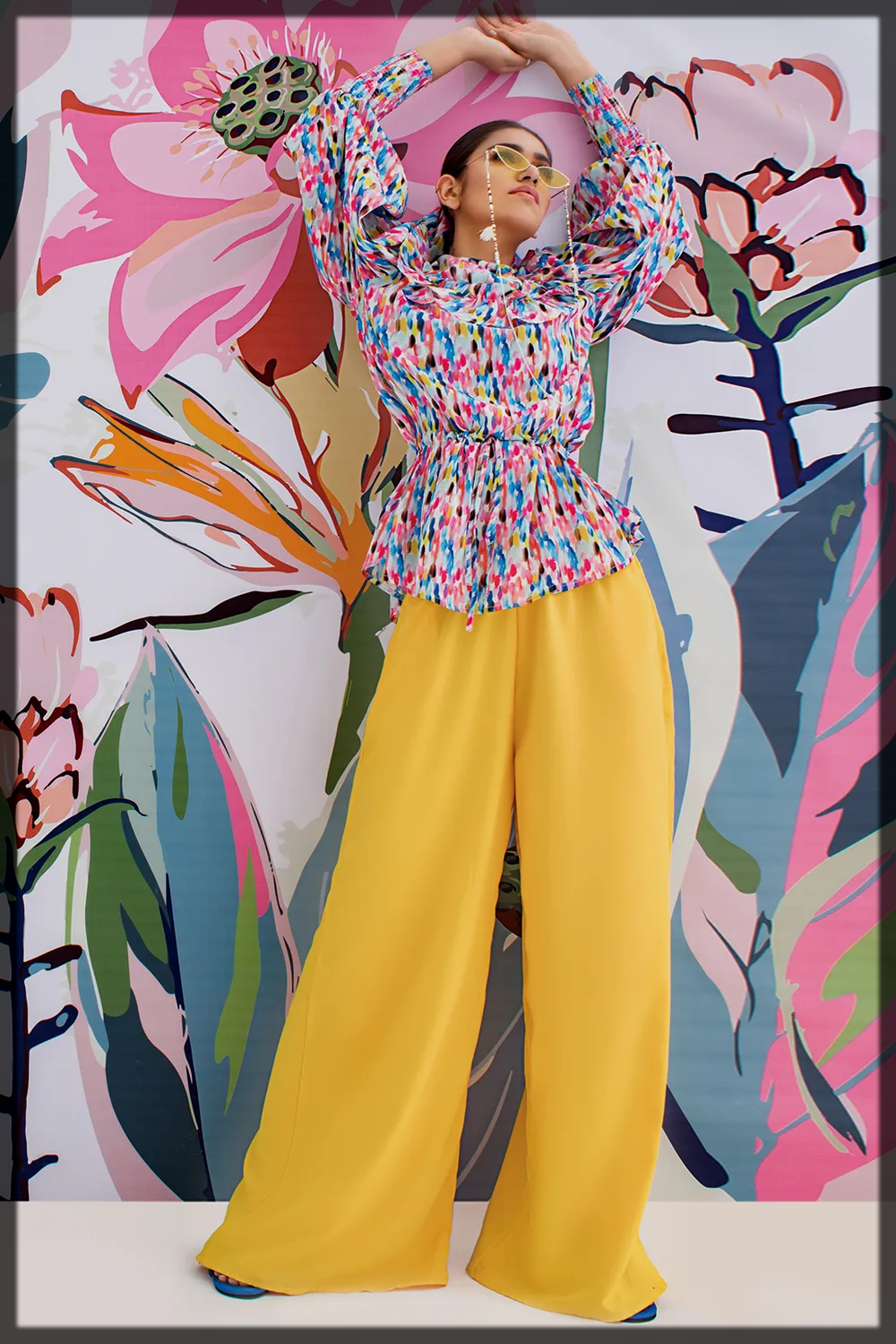 Solid Flared Pants by khaadi