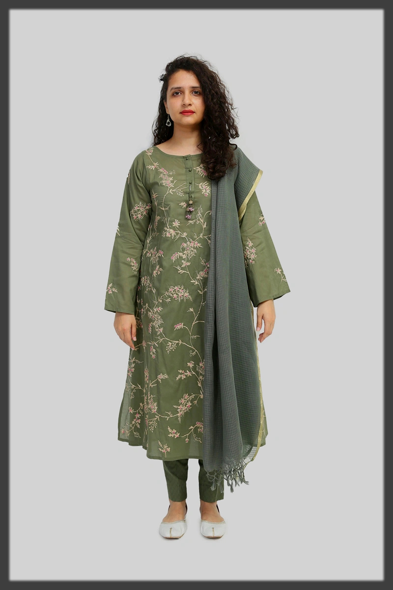 Voile (Lawn) shir for women